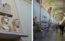Imperadores Vespasiano (esq) e Settimo Severo (dir) --- Museu Chiaramonti