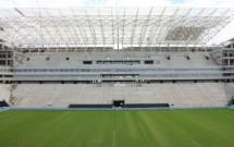 Arena Corinthians ainda em construção