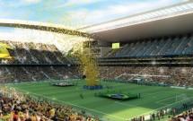 Projeção gráfica da Arena Corinthians