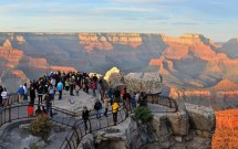Turistas no Grand Canyon