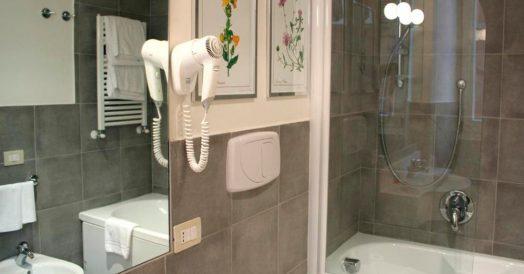 Banheiro do Hotel Adriano em Roma