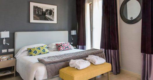 Quarto do Hotel Adriano em Roma
