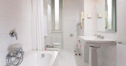 Banheiro do Hotel Quirinale em Roma