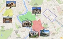 Mapa de Roma: Bairros e Pontos Turísticos