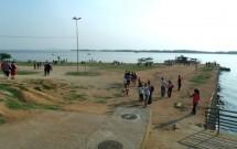 Orla do rio Guaíba na Usina do Gasômetro