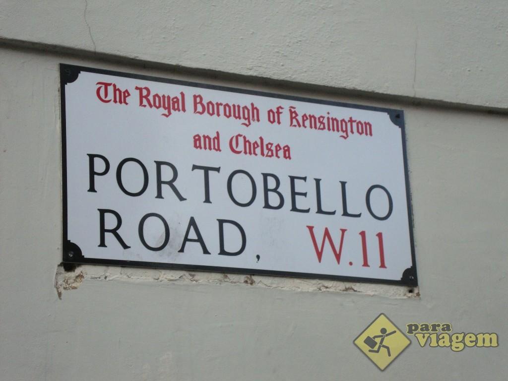 A rua da famosa feira de Notting Hill