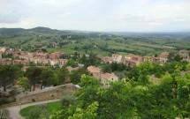 A Toscana vista da Torre da Rocca