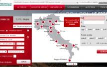 Escolhendo o trecho e data da viagem - Trenitalia