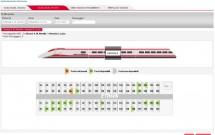 Marcando o assento - Trenitalia