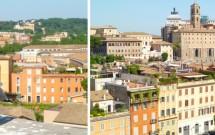 Bela vista do alto da Domus Tiberiana no Palatino