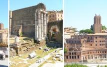 Via dei Fori Imperiale: Estátua de César, Forum de Augusto e Mercado de Trajano