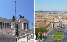 Monumento Vittorio Emanuelle II e vista da Piazza Venezia do alto do monumento