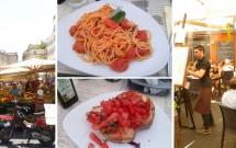 Mercado livre do Campo de Fiore & o Restaurante Maranega