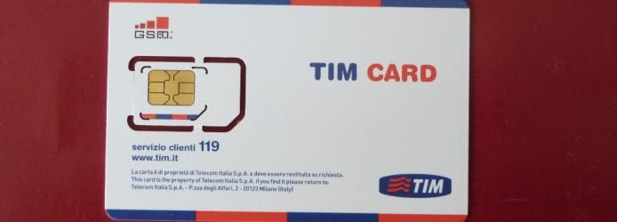 Chip de celular na Itália