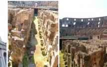 Detalhe da fachada e interior do Coliseu
