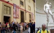 Davi de michelangemo na Galleria dell'Accademia