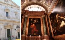 Igreja de San Luis de France & as belas obras de Caravaggio dedicadas a São Mateus
