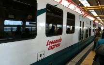 Trem Leonardo Express em Roma