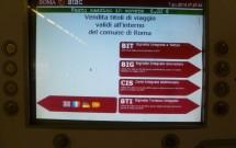 Bilhetes de metrô em Roma