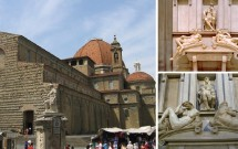 Igreja San Lorenzo e Capela Médici. Detalhes dos túmulos de Lorenzo e Juliano de Médici esculpidos por Michelanglo