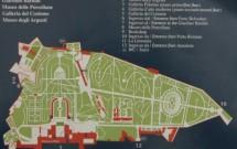 Mapa do Jardim de Bóboli (observe a entrada pela Porta Romana - nº 10)