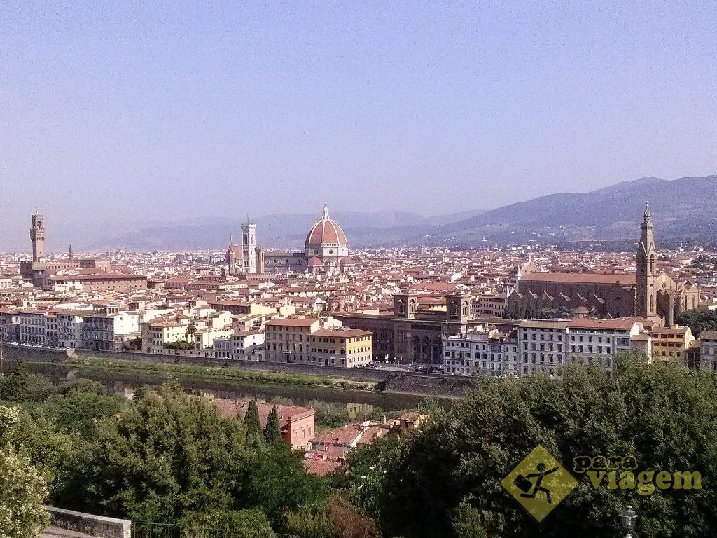 Vista da cidade de Florença da Piazzale Michelangelo