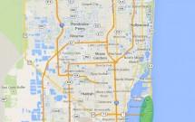 Mapa de Miami com Áreas de Interesse