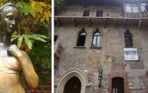 Fazendo o famoso ritual na estátua de Julieta --- Casa de Julieta