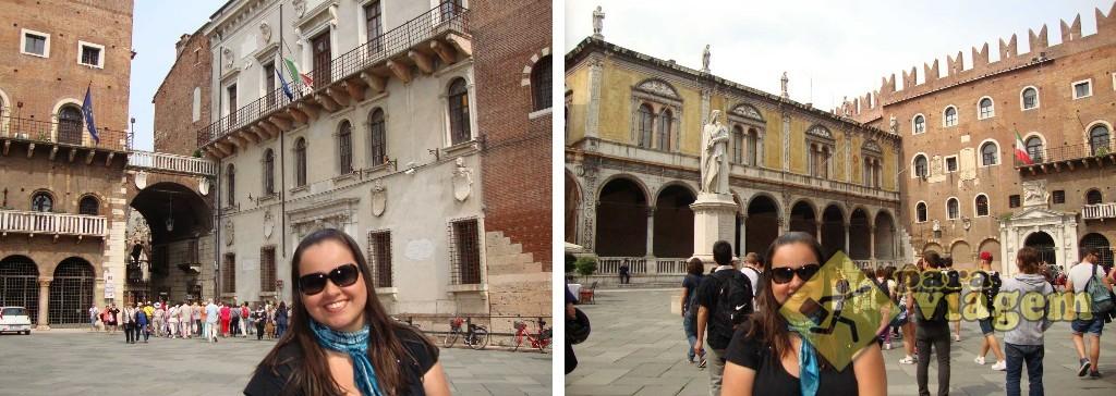 Palazzo del Capitano --- Loggia del Consiglio e a Estátua de Dante