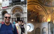 Basília de San Marco. Interior da Basílica no detalhe