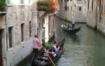 As tradicionais gôndolas de Veneza