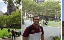 Bryant Park e o Chrysler Building no detalhe