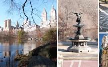 Central Park no outono: Bethesda Fountain - Strawberry Fields - Dakota Building