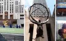 Rockefeller Plaza - Estátua de Atlas - Radio City - NBC - Top of the Rock