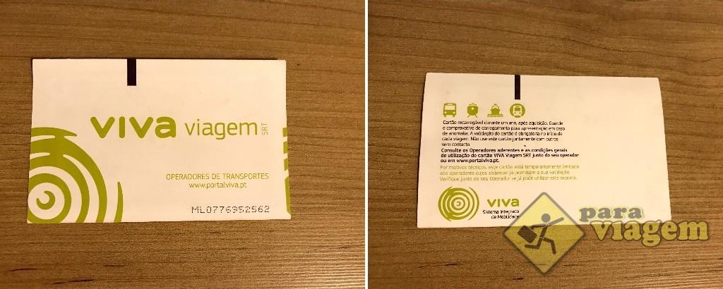 """Cartão Recarregável """"Viva Viagem"""" do Transporte Público"""