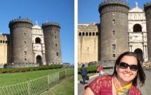 Castel Nuovo -- Militares marchando na entrada do castelo