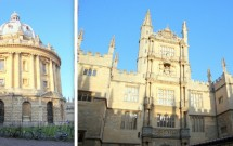 Radcliffe Camera (esq) e Bodleian Library (dir)