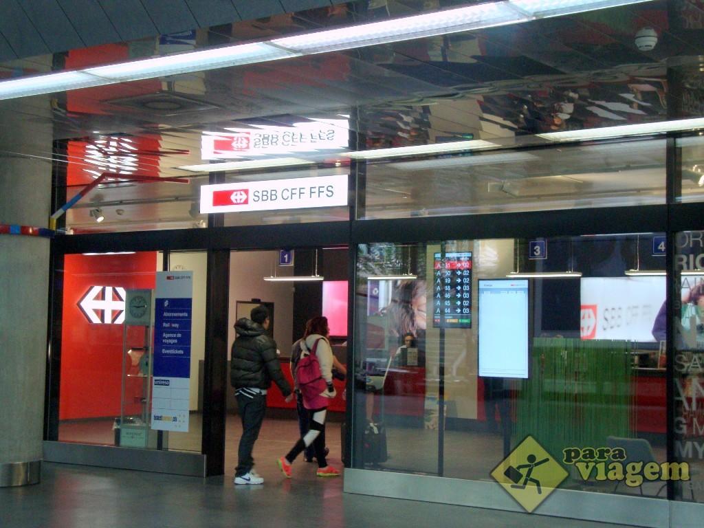 Posto de venda do Swiss Pass