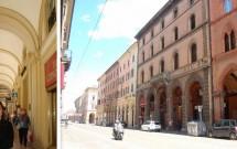 Os pórticos das ruas de Bolonha