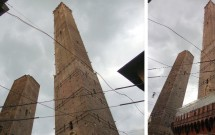 Dupla inclinada: Torre Garisenda (esq) e Torre degli Asinelli (dir)