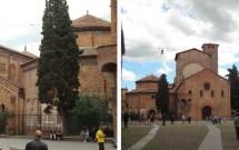Complexo de San Stefano. Em destaque (à esq) está a igreja mais antiga da Bolonha