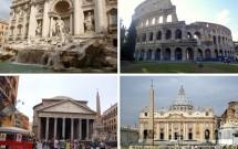 Roma: Fontana di Trevi, Coliseu, Vaticano e Pantheon