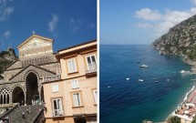 Amalfi (esq) e Positano (dir)