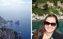 Capri vista de cima -- A cor incrível do mar em volta da ilha