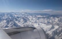 Cordilheira dos Andes vista da janela do avião