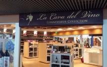"""Loja """"La Cava del Vino"""" no aeroporto de Santiago"""