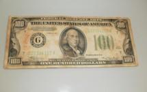 Nota antiga de 100 dólares que não é mais aceita