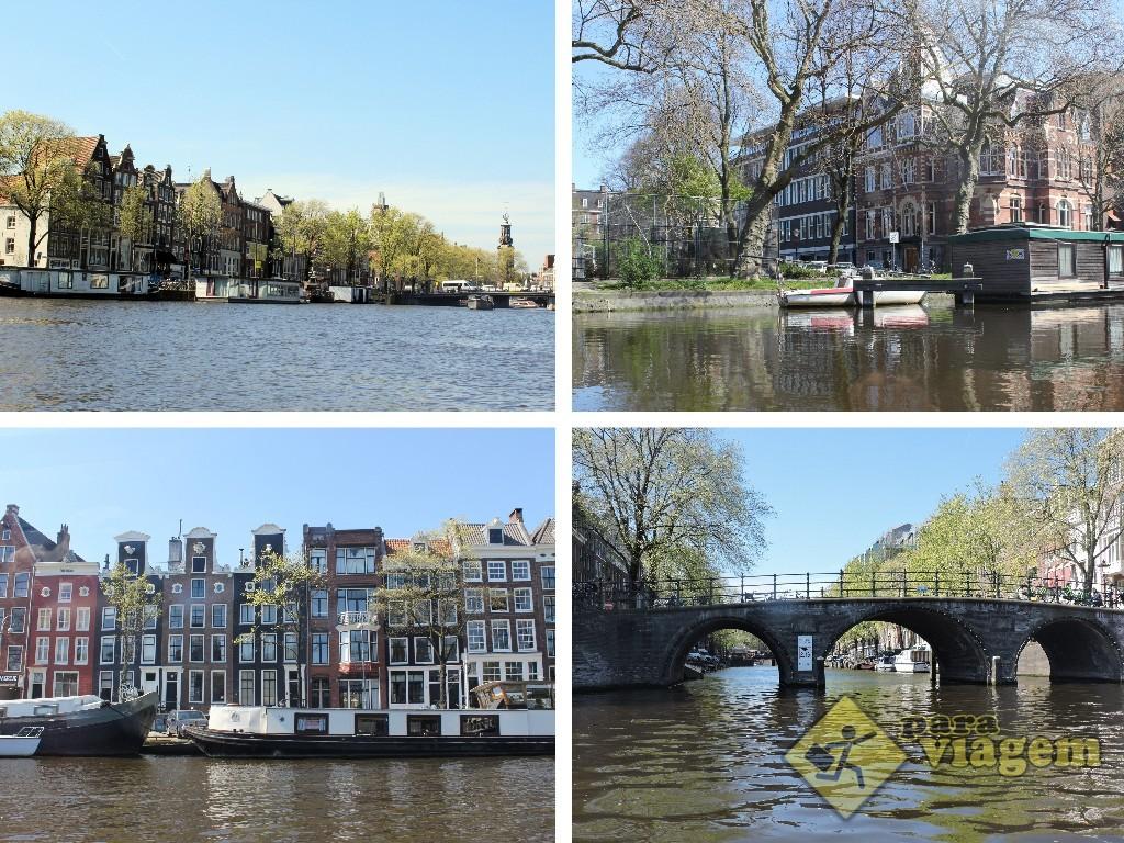 Algumas imagens do passeio de barco por Amsterdam