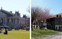Concertgebouw (esq) e o Stedelijk Museum (dir)