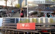 O incrível (e lotado) estacionamento de bicicletas